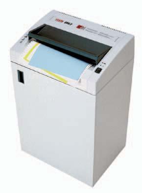 Niszczarka dokumentów HSM 386.2 - seria Classic  Mobilny model wysokiej wydajności dla działów zajmujących się przetwarzaniem dokumentów bądź dla całych pięter biurowych. Niszczarka szczególnie przydatna do niszczenia wydruków taśmowych A3, niszczy także karty kredytowe. Praktyczna półka na wydruki komputerowe. Automatyczny start/stop sterowany fotokomurką. Przełącznik: włączona/wyłączona/cofanie. Nowoczesna, elektroniczna kontrola pracy. Tryb gotowości ze wskaźnikiem LED. Zatrzymuje sie automatycznie, gdy pojemnik na ścinki zapełni się bądź gy drzwiczki zostaną otwarte. Możliwość zamówienia z instalacją automatycznego oliwienia noży tnących, Pojemnik na ścinki wyposażony w worek wielokrotnego użytku.