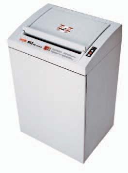 Niszczarka dokumentów HSM 411.2 - seria Classic  Mobilny model o bardzo wysokiej wydajności dla działów zajmujących się przetwarzaniem dokumentów bądź dla całych pięter biurowych. Niszczy komputerowe wydruki taśmowe, a także karty kredytowe, płyty CD oraz dyskietki, oraz kasety DAT (w stopniu bezpieczeństwa 3). Prajtyczne miejsce do uładania stosow papieru do zniszczenia. Osłona zabezpieczająca nad szczeliną wejściową, dedykowany otwór na płyty CD/dyskietki (w stopniu 2 i 3). Nowoczesna, elektroniczna kontrola pracy. Automatyczny start/stop sterowany fotokomórką. Przełącznik: włączona/wyłączona/cofanie. Tryb gotowości ze wskaźnikiem LED. Zatrzymuje się automatycznie, gdy pojemnik na ścinki zapełni się bądź gdy drzwiczki zostaną otwarte. Funkcja automatycznego zatrzymania z sygnalizacją wskaźnikiem LED oraz wygodne, automatyczne cofanie w przypadku blokady papieru. Możliwość zamówienia z instalacją automatycznego oliwienia noźy tnących.. Pojemnik na ścinki wyposażony w worek wielokrotnego użytku.